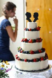 wedding cake recipes berry wedding cake with berries and silhouette toppers recipe index