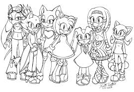 sonic characters coloring pages sonic girls coloring page black avalon bebo pandco