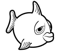 outline drawings of fish group 75