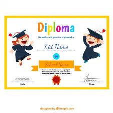 diplomas de primaria descargar diplomas de primaria diploma niño con los niños divertidos descargar vectores gratis