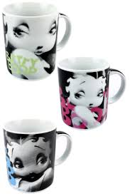 betty boop coffee mug cartoon character drinks cup 300ml capacity