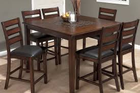 jofran baroque brown counter height table u0026 chairs set 697 50