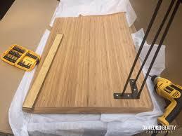 ikea bamboo table top ikea hilver standing desk with hairpin legs ikea hackers desks