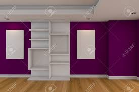purple livingroom modern minimalist empty livingroom with purple wall wood floor