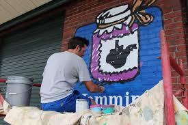Mural Artist by Charleston Gazette Mail Pulitzer Prize Winning West Virginia