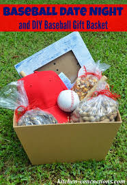 date basket baseball date and diy baseball gift basket and picture frame