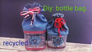 diy how to make a bottle bag using recycling materials youtube