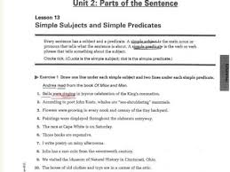 simple subject and predicate worksheet free worksheets library