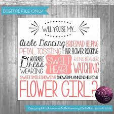 Asking To Be Bridesmaid Ideas Flower Proposal Cards