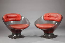 Leather Armchairs Vintage Vintage Lucite And Leather Armchairs By Raphael Raffel Set Of 2