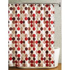 Brown And White Shower Curtains Hometrends Nu Cirque Fabric Shower Curtain Red And Brown