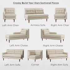 individual sectional sofa pieces build your own crosby mid century sectional pieces west elm