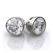 amazon com 4 75 carats 4 prong stud earrings with 1 50 carat t w of diamonds in 14k white