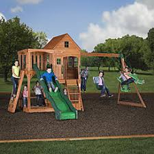 Metal Backyard Playsets by Swing Sets Playsets Sears