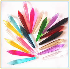 Crystal Parts For Chandeliers 200pcs Lot 63mm Crystal Multi Cuts Glass Icicle Pendants Crystal