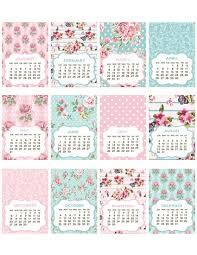 printable calendar 2016 etsy items similar to instant download digital 2015 calendar shabby chic