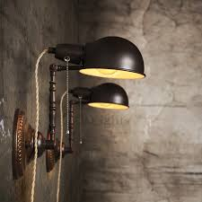 Wall Sconce With Pull Chain Switch Industrial String Lights Plug In For Wall Sconces