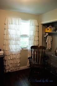 Ruffled Curtains Nursery by Sarah By The Sea Baby D U0027s Nursery So Far