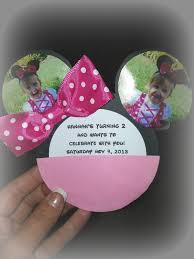 How To Make Minnie Mouse Invitation Cards Diy Minnie Mouse Invitations The Ashcraft Bunch P A R T I E S