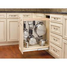 Cabinet Organizers Pull Out Rev A Shelf 25 5 In H X 8 In W X 22 5 In D Pull Out Wood Base