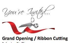 grand opening ribbon grand opening ribbon cutting at spherion staffing windham