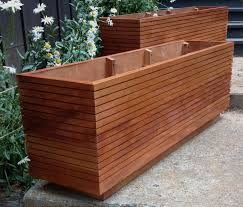 tall modern mahogany planter boxes mid by midcenturywoodshop