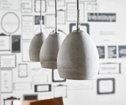 Esszimmer Lampe Beton Hängeleuchte Cirillo 70x15 Grau 3 Schirme Beton Optik Wohnidee