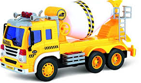 go lights for trucks amazon com friction powered toy cement mixer truck with lights