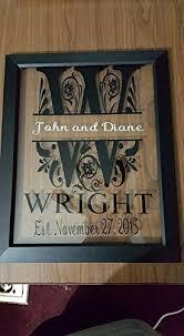 wedding gift letter personalized split letter monogram 11x14 floating