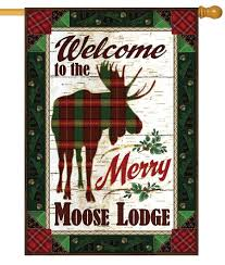Moose Themed Home Decor by Moose Lodge Welcome Garden Flag
