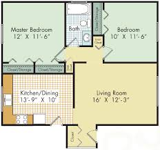 Rivergate Floor Plan by 1 And 2 Bedroom Apartments In Madison Heights Lexington Village