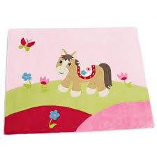 teppich kinderzimmer baumwolle teppich paula das pferd sterntaler 96074