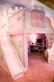 Bunk Beds With Slide And Stairs Furniture Bedroom Pink Wooden Doll House Bunk With Slide And Stair