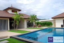 Thailand House For Sale Small Luxury Thai Balinese Style Pool Villa Near Banyan Golf Course