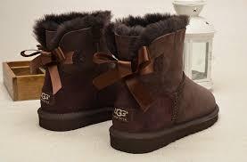 ugg womens bow boots ugg mini bailey bow boots 1005062 chocolate uggzm00000048