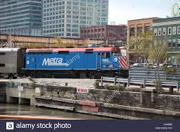Trains In America Metra Train In Chicago Illinois Usa Usa United States Of America