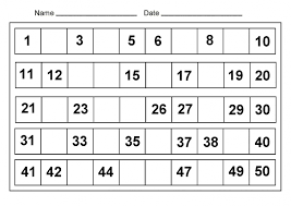free worksheets 50 number chart free math worksheets for