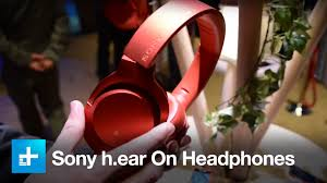 sony home theater headphones sony h ear on u0027hi res u0027 bt headphones hands on at ces 2016 youtube