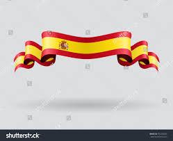 Spanish Flag Spanish Flag Wavy Abstract Background Vector Stock Vektorgrafik