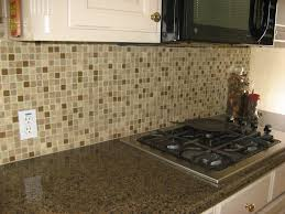 kitchen style brown gray mosaic glass tile backsplash small