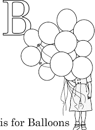 balloon alphabet coloring pages printable alphabet