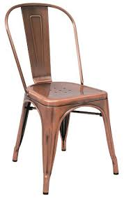 Copper Bistro Chair Bistro Style Metal Chair In Copper Finish