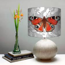 peacock butterfly print botanical lshade by terrarium designs