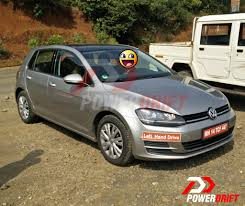 volkswagen hatchback 2015 vw golf tsi spotted testing in india 5 pics
