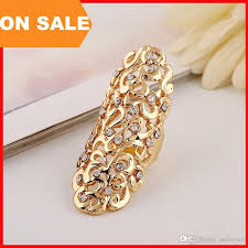 long rings jewelry images 2018 fashion metal hollow carved diamond ring woman long women jpg