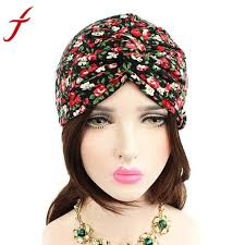 pre chemo fashion knitted hat women floral printed cancer chemo hat pre tied