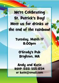 party411 st patrick u0027s day invitations