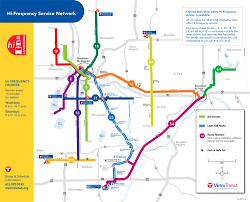 Metro Transit Map by Metro Transit High Frequency Bus Map Minneapolis Richard Layman