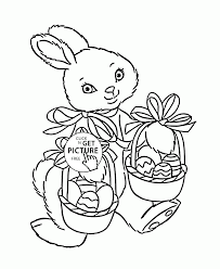cute easter bunny coloring page for kids holidays coloring pages