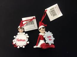 the on the shelf personalized name ornaments by department 56